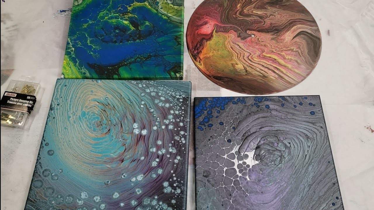 How I Finish the Back of my Acrylic Pours