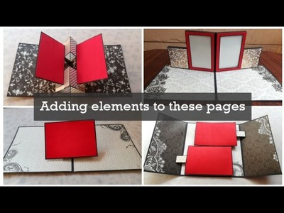 How to add elements to scrapbook pages | Scrapbook page ideas | Pop-up scrapbook