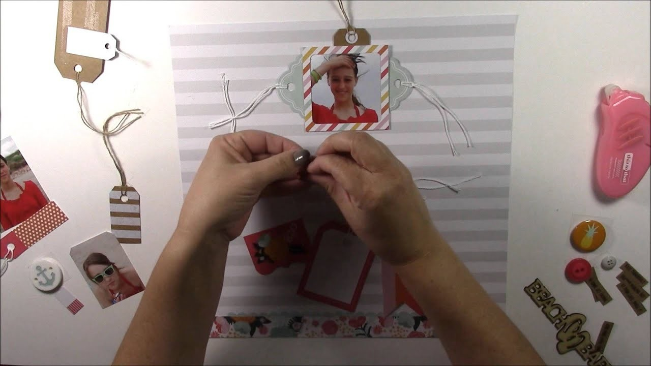 How to Create a Tag Scrapbooking Layout with Fancy Pants Designs