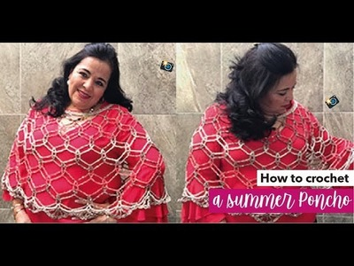 HOW TO CROCHET A SUMMER PONCHO - EASY AND FAST - BY LAURA CEPEDA