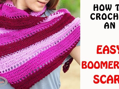 How to Crochet an Easy Boomerang Scarf