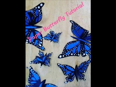How to make a Beautiful Paper Butterfly Easily. Easy Paper Butterfly Tutorial