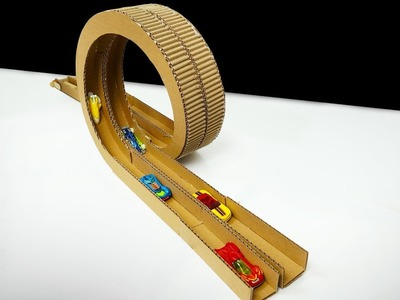 How to Make a Challenge Speedway From Cardboard Playing with Cars