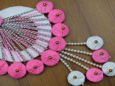 How to Make Door Hanging Using Woolen & Beads - Woolen Craft Idea - Woolen Design - Best reuse ideas