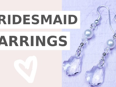 How to make swarovski pearl and crystal earrings at home   Iza Beads