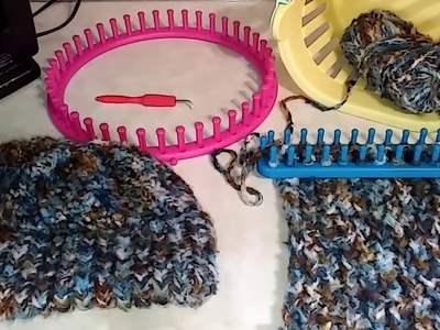 LATEST HOBBY I'M ENJOYING. LOOM KNITTING!!!