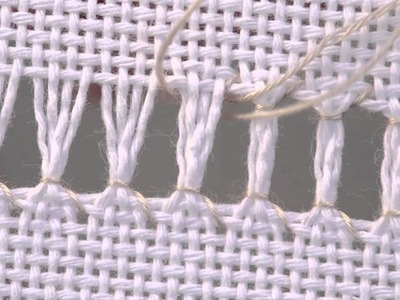Learn How To Ladder Hem Stitch over 4 Threads   Embroidery Intermediate   German