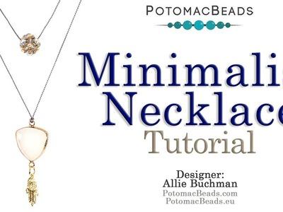 Minimalist Necklace - Beading Project