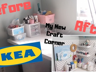 My New Updated Small Craft Corner with IKEA Pegboard DIY