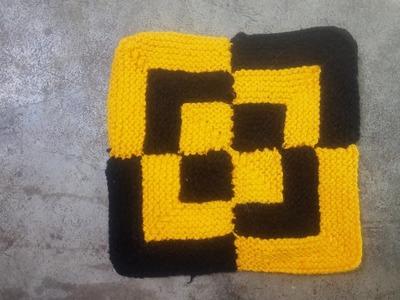 New design Doormat from wool. saree || how to make door mat at home || SQUARE DOORMAT making