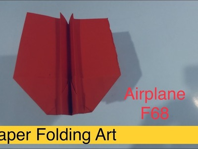 Paper Folding Art Origami,,-Tutorial  Airplane Paper for kids,Paper-Folding Craft 2019 @68
