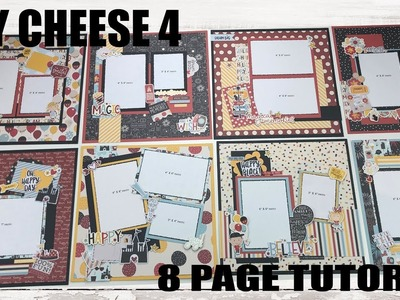 Scrapbook Tutorial | Simple Stories | Say Cheese 4 *8 layouts* Cutting Guide