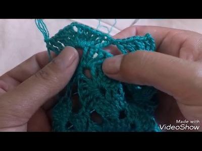 Vestido de crochê Vanessa Montoro parte 2