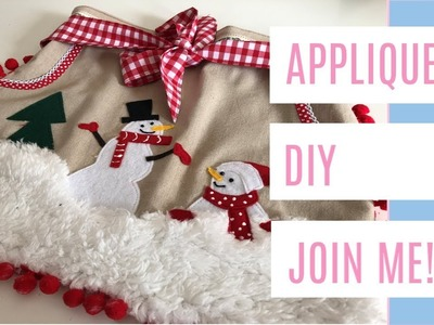 APPLIQUE HOW TO; sewing a Christmas apron, Christmas sewing with kids