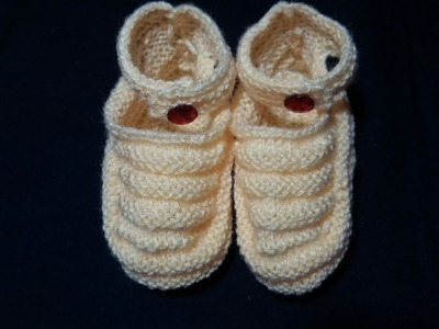 Baby booties knitting design