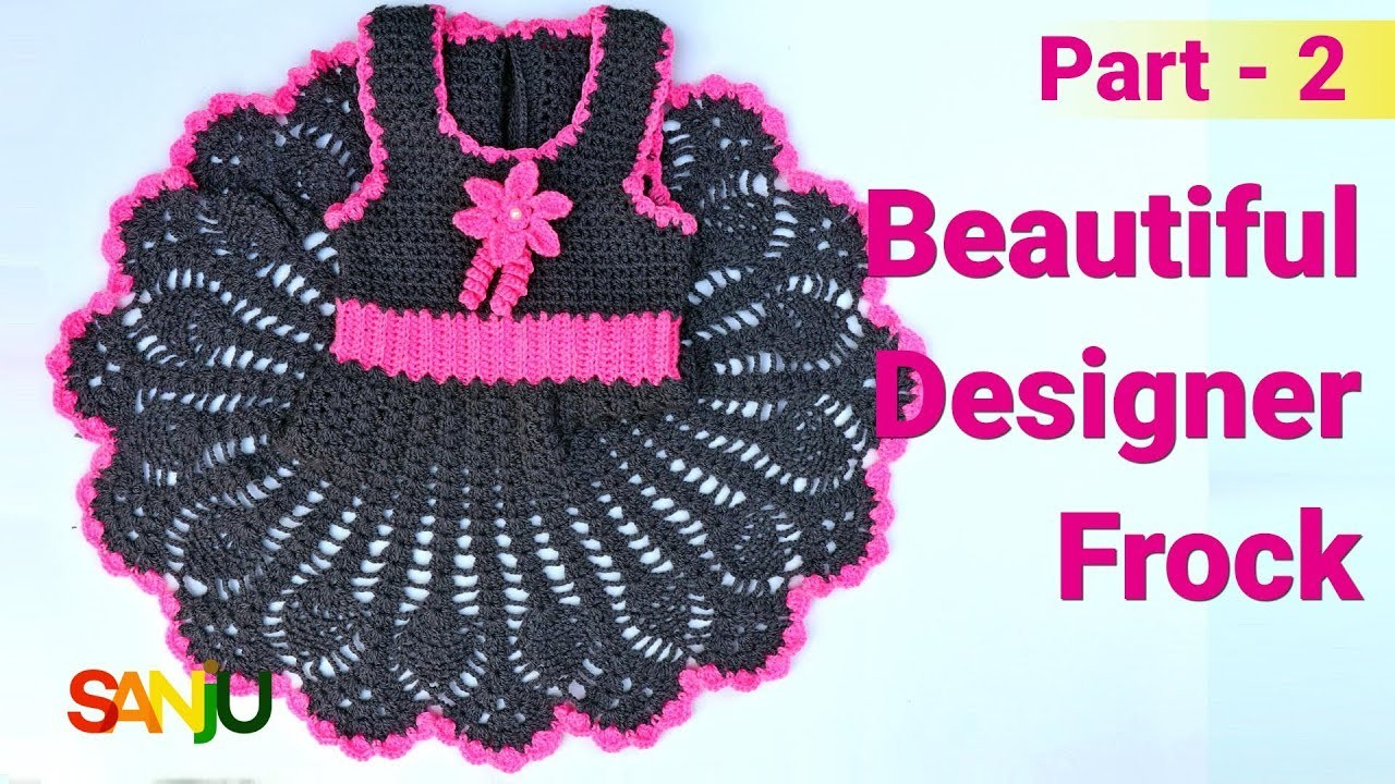 Beautiful designer frock for 2-3 years baby girl | How to make skirt of frock - Part 2