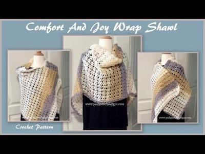 Comfort And Joy Wrap Shawl Crochet Pattern