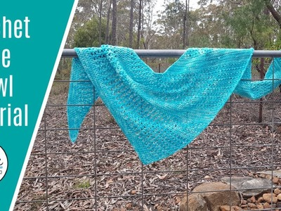 Crochet Abbie shawl tutorial #crochet #crochetshawlpattern