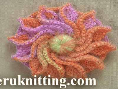 Crochet Flower with Trimmed Petals  Tutorial  199