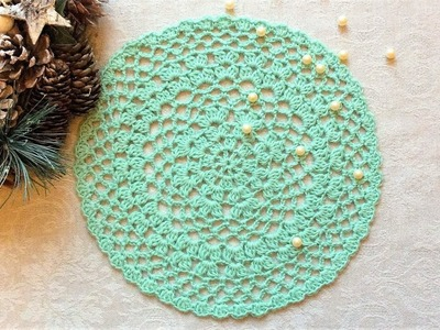 Crochet Fresh Mint Doily Tutorial Easy For Beginners