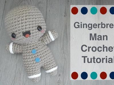 Crochet Gingerbread Man Free Amigurumi Pattern