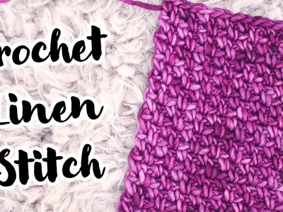 Crochet Linen Stitch Easy Tutorial