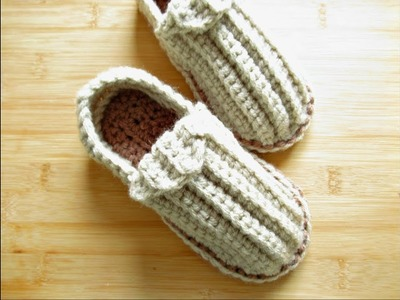 "Crochet slippers shoes Child 6.7""-7"" sole 4-5 years approx Designed by Happy Crochet Club"
