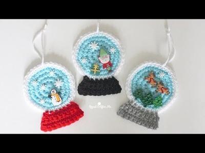 Crochet SnowGlobe Ornament