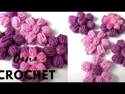 Crochet the perfect puff flower by Oana