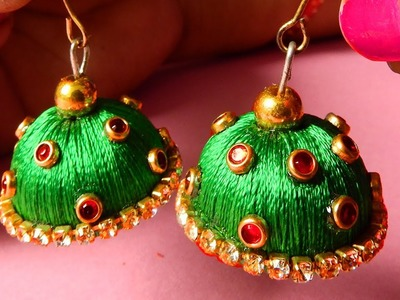 DIY Earrings . How To Make Silk Thread Earrings Easy & Simple At Home