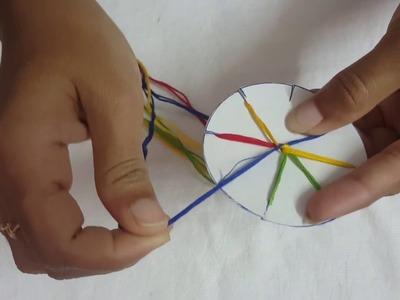 DIY || How to Make Thread bracelets. Making of friendship bracelet.AK Creativity