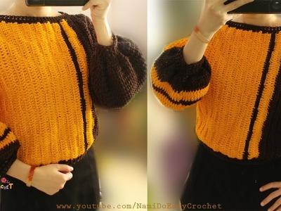 Easy Crochet: Crochet Sweater (pullover) #10