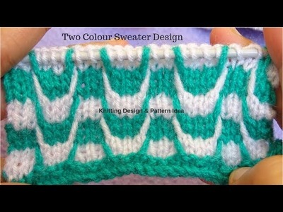 Easy sweater bunai || two colour sweater design in hindi (knitting pattern for ladies & gents).