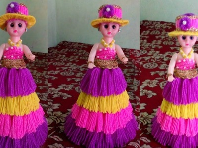 How to a doll decorate using woolen. DIY doll decorations ideas