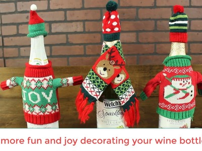 How to Add Christmas Decorations To Your Wine Bottle