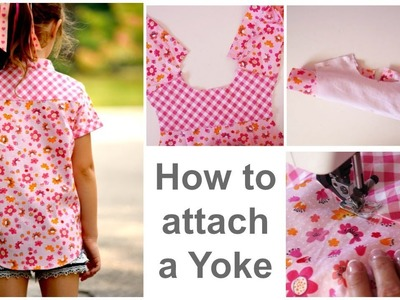 How to attach.sew a Yoke - Cool Shirt - Learn to sew with Marina