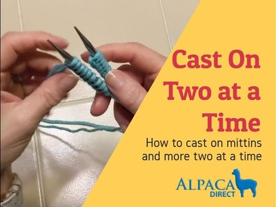 How To Cast On Two at a Time Mittens and More