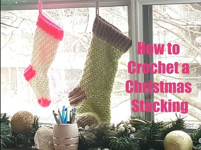 How to Crochet a Christmas stocking - The Stitch Sessions #14