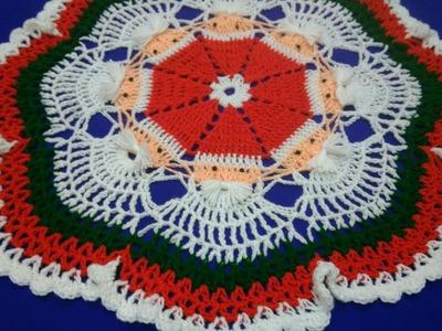 How to crochet Christmas doily
