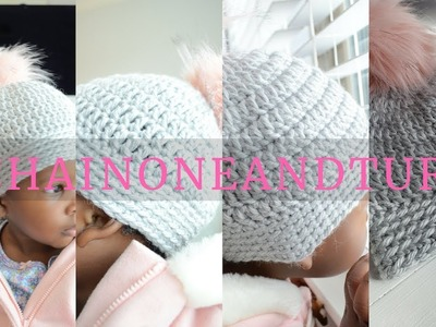How to Crochet the Easiest Hat Ever! Soft Comfort Crochet Hat by Red Heart