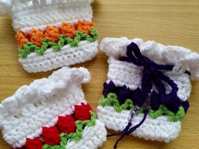 How to Crochet Trio Oil Pouch ( in Tulip Stitch)