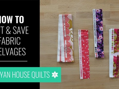 How to Cut Selvages from Quilting Fabric with Rebecca Bryan