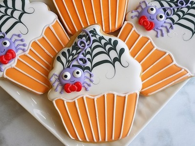 How to Decorate a Not-So-Spooky Cupcake Cookie