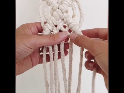 How to do a macrame diamond weave in a sash!