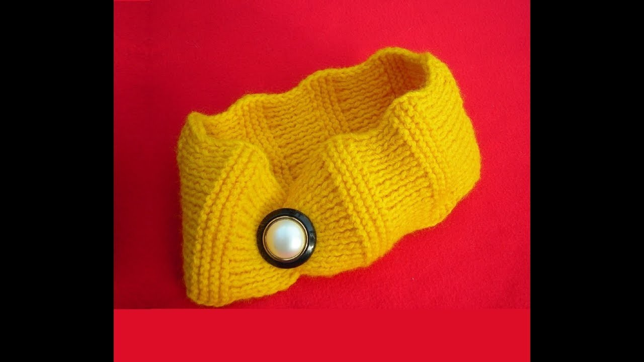 How to Knit a Ripple Headband Ear Warmer - Easy Knitting Pattern for Beginners
