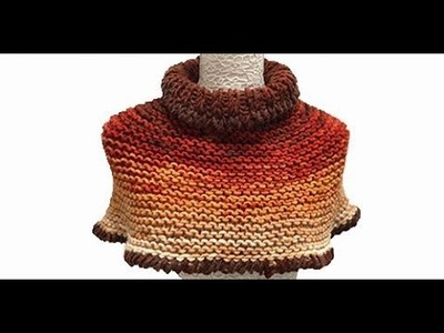 HOW TO KNIT A SHORT PONCHO - EASY AND FAST - BY LAURA CEPEDA