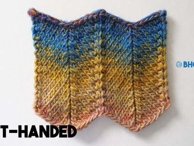 How to Knit Chevron Pattern (Left-handed)