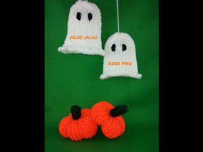 How to knit Halloween little Ghost Addi express Professional beginnner safe