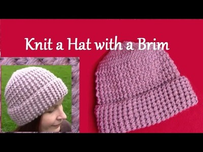 How to Knit Ribbed Hat - Knitting Pattern - Knitted Winter Hat - Tutorial