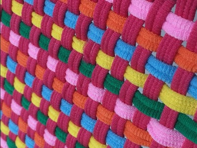 HOW TO Loop and Loom Square Weave Pink and Friends